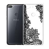 LJSM Hülle für HTC Desire 12 Plus Handytasche Premium Weiche TPU Silicone Schutz Handyhülle Crystal Clear Silikon transparent Schutzhülle TPU Tasche Cover Schale Case (6.0