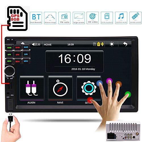 EINCAR Frei 8GB GPS Map-Karte Doppel-DIN-Autoradio-Stereo In Dash 7 Zoll Digital-HD-Touch Screen GPS-Navigation-Steuergerät Unterstützung Autoradio Bluetooth-Freisprecheinrichtung FM AM Radio Rec Rec Navigation