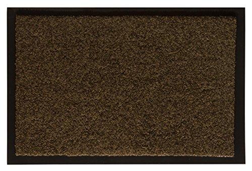 Andiamo Eingangsbereich in/Outdoor – Rutschhemmend Waschbar Fußmatte, Polyamid, Teak, 60 x 90 x 1...