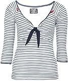 Küstenluder Damen Oberteil Kizzy Streifen Shirt Blau 3XL