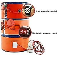 D&F 53 galones / 200 litros Silicio Metal Calentador de Tambor de Aceite,Digital Ajustable/Control de Temperatura rotativo Calentador de cubeta Aislado,B,20L/200 * 860mm/800W