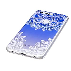 Huawei Case, BONROY® Huawei Fashion painting pattern Case Bumper Transparent Soft Gel Shockproof Case Resist Protection Shell for Huawei
