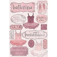 Karen Foster Design Acid and Lignin Free Scrapbooking Sticker Sheet, Ballerina