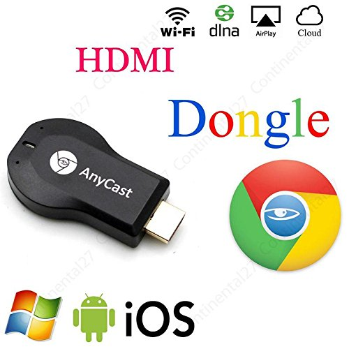 JOKIN ,Anycast wifi HDMI Dongle Wireless Display For Iphone Ipad Windows Pc Android,Tablets to TV Selector Box Airplay WiFi Display Miracast For All Android & Iphone Smartphones