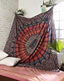 Mehrfarbige Mandala Tapestry Indian Wandbehang , Bettlaken , Bettdecke Picknick Strand Blatt , Qualität- Hippie by Craftozone
