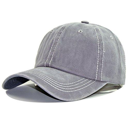 Damen Fallen einfach Golf Joggen Angeln leichte Art dünne Platte UV-Schnitt einstellbar Outdoor Cap Sommer Baseball Cap Hut Hut (Farbe : Grau)