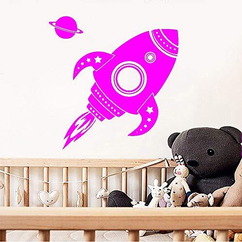 zqyjhkou Fun Rocket Selbstklebende Vinyl Wandaufkleber Aufkleber Für Kinderzimmer Dekoration Wandbild Poster 3 L 43 cm X 50 cm