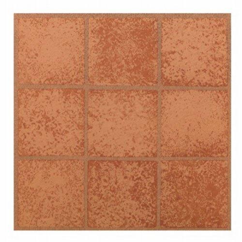 MAX KD0203 Crimson Squares Peel & Stick Vinyl Floor Tile, 12 x 12 by Max (12 X 12 Vinyl Floor Tile)