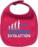 EZYshirt Schwimmer Evolution Baby Lätzchen Halstuch