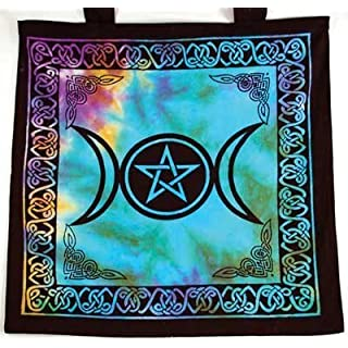 AzureGreen RB74TMP Triple Moon Pentagram Tote Bag by AzureGreen