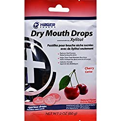 Hager Pharma Dry Mouth Drops - Cherry - 2 oz - Gluten Free - Sweetened with xylitol