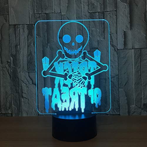 YDBDB Halloween Geister 7 Farbe Lampe 3D Visuelle Led-nachtlichter Für Kinder Touch Usb Tabelle Baby Schlafen Nachtlicht
