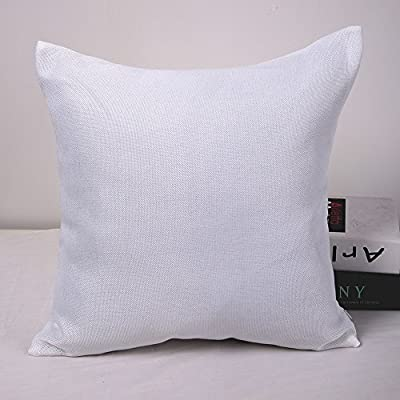 "Deconovo Soft Faux Linen Home Decorative Hand Made Pillowcase Cushion Cover With Invisible Zipper 18""x18""Inch - inexpensive UK light shop."