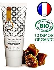 Crème Mains Bio Réparatrice à la Cire d'Abeille Anti Tâches Brunes - Peaux Abîmées ou Desséchées - Made in France, Certifié Bio - 75 ml