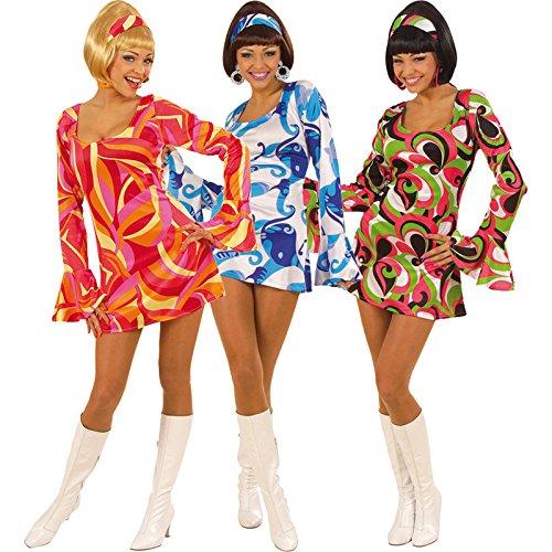 Disco Jahre 70er Outfits (Widmann 58041 - Disco-Kostüm für Damen, Größe S, farblich)