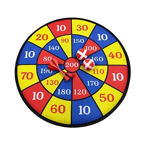 Ecisi Sichere Dartscheibe für Kinder mit 2 Bällen & 2 Dartpfeilen, Klett-Dartscheibe-Set,Stoff-Dartscheibe Bullseye-Spiel Kinderspielzeug Danksagung Sicheres Werfen Sport Hobby für Kinder