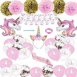 Decoracion Unicornio Cumpleaños,Globos Unicornio Cumpleaños,Unicornio