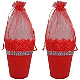Kabello Combo Of 2 Net Potli For Christmas Gift For Kids Chocolate And Candy Store Use, 20 Grams, Red, Pack Of 1