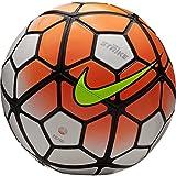 Nike Strike Ballon de Football, Adulte Mixte, Blanco/Plata/Naranja (WHT/SLVR/Hyperorange), 5