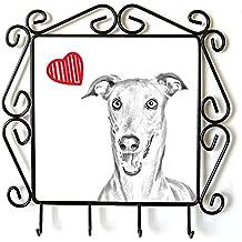Galgo italiano, Suspensión de ropa con una imagen de un perro y el corazón