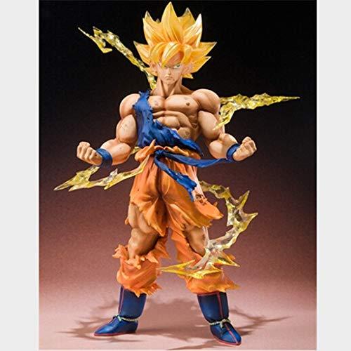 DNSJB Escultura Modelo Dragon Ball Super Saiyan Goku Manualidades Dibujos Animados para el hogar Decoración Juguetes Estatua De Gama Alta Regalos de cumpleaños, Coleccionables, Recuerdos 15cm