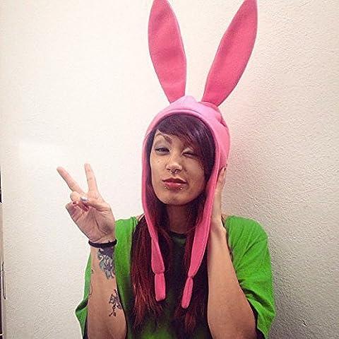 Chapeau de petit lapin rose - Louise Belcher -Bob