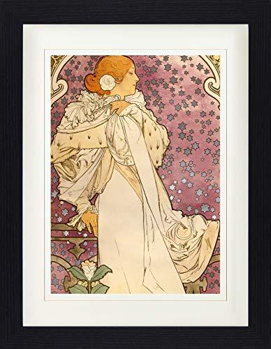 1art1 113994 Alphonse Mucha - Sarah Bernhardt, Die Kamelien-Dame, 1896 Gerahmtes Poster Für Fans Und Sammler 40 x 30 cm