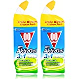 00 null null WC Aktiv Gel 3in1 Fresh Green 750 ml - Stark gegen Kalk (2er Pack)
