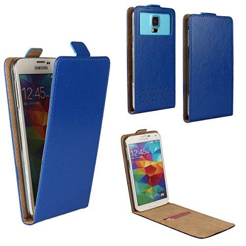 Acer Liquid Zest 3G Smartphone Klappbare Flip Tasche / Schutzhülle mit Kreditkartenfach - Flip Blau Nano M