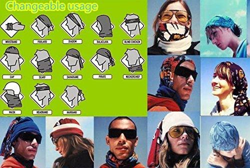 SHINA 12pcs Seamless Sport Bandanas Tube avec motif de cycle classique multi-usage avec un foulard, masque facial, absorbant l'eau sechage rapide et respirante etelastique tête avec resistance UV set1