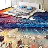Wmbz Schöne Strand Muschel Perlmuschel 3D Bodenfliesen Benutzerdefinierte Große Wandgemälde Pvc Verschleißfesten Umweltfilm-280X200Cm