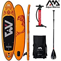 AQUA MARINA FUSION SUP hinchable Stand Up Surf Paddle Board Remos