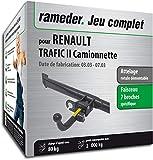 Rameder Attelage rotule démontable pour Renault TRAFIC II Camionnette + Faisceau 7...