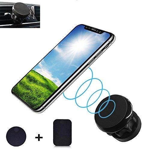 Puncia Super Magnet Handy Halterung für Auto Lüftung, Magnetische Handy Halterung für iPhone X 8 7 Plus 6s 6 SE 5s 5 Samsung Galaxy S8 S7 Edge S6 KFZ Smartphone handyhalter Fürs Auto s8 Plus