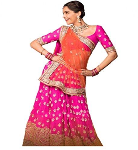 Muta Fashions Banglori Silk Pink Women Lehenga ( LEHENGA112_Pink )