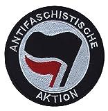 A-Aktion - Aufnäher, Farbe: Schwarz/Weiß/Rot