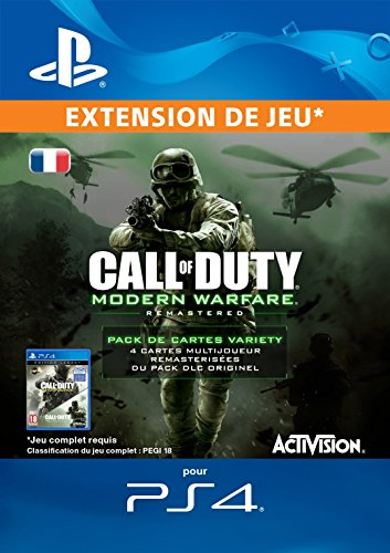 Call of Duty: Modern Warfare Remastered Variety Map Pack Edition DLC [Code Jeu PS4 - Compte français]