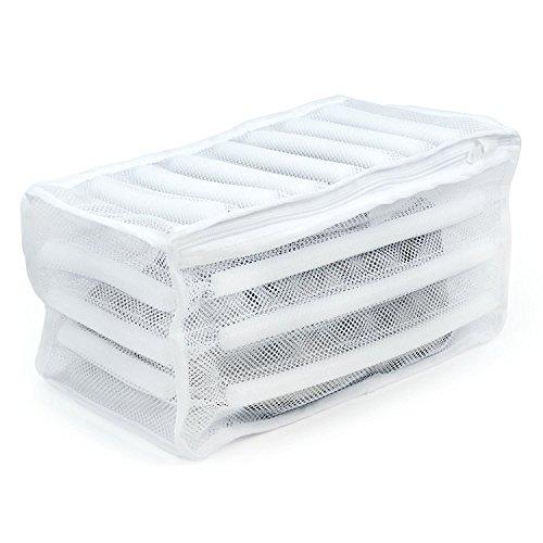 Hangerworld 3 Gepolsterter weißer 35x17x19cm Waschbeutel für Sportschuhe Turnschuhe