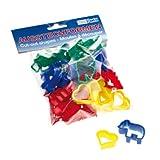 Unbekannt Becks Plastilin B100535 Ausstechformen, 4 Farben, mehrfarbig, 40-teilig (1 Set)
