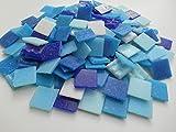 Happy-Mosaic Mosaiksteine 2x2 cm Blau Mix 1000g 4mm stark lose Glasmosaik Steine zum Basteln
