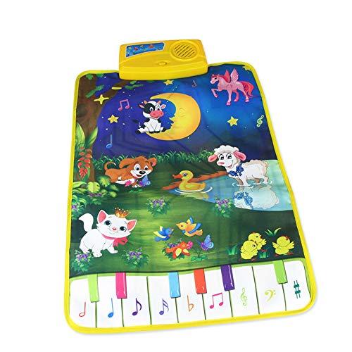 LIUQIGRASS Multifunktionale Kinder Früherziehung Musikmatte, elektronische Musik Decke, pädagogisches Spielzeug Spiel Decke, Multi-Site-Anwendung