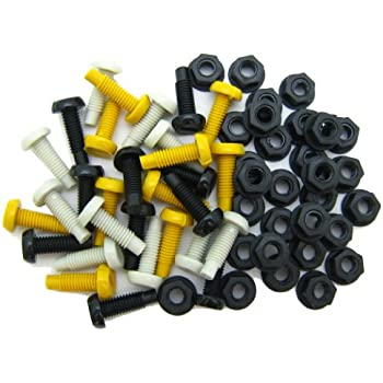 Motorcycle 4 Piece Number Plate plastic bolt and nut kit