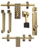 #8: Klaxon Glorious 2 Brass Door Accessories Kit (Antique Finish)