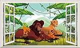 Chicbanners V007 Wandaufkleber/Wandaufkleber Der König der Löwen, selbstklebend, Größe 1000 mm breit x 600 mm tief (groß)