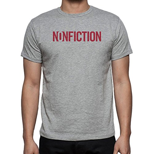 Nonfiction Red Letters Happy Birthday Party Present Graphic Design Sign Majestic Herren T-Shirt Grau