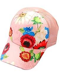 Casquette de baseball, Tianya Filtre Femme Fleur en maille filet Baseball Caps Unisexe Hip Hop Plat réglable Chapeau de soleil