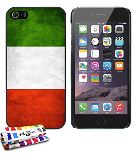 carcasa-rigida-ultra-slim-apple-iphone-5s-iphone-se-de-exclusivo-motivo-bandera-italia-negra-de-muzz