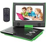 ieGeek 11' Reproductor DVD Portátil Coche Niños con Pantalla HD 9' TFT LCD, Multi Region Gratis, Batería Recargable 5H, Jack de Auriculares Dual, Puerto AV/SD/USB (Verde)