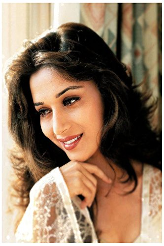 Myhome Madhuri Dixit Poster (Paper, 30 cm x 45 cm) withBuy one Poster and get 1. Set Black and Red Vinyl sticker Free  available at amazon for Rs.209