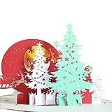 Mitlfuny✈✈✈3D Pop-Up Weihnachtskarten I WeihnachtsgrußKarte - Weihnachtsbaum Mit Geschenken